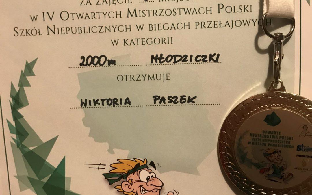 V miejsce wBiegach Przełajowych – Wiktoria Paszek