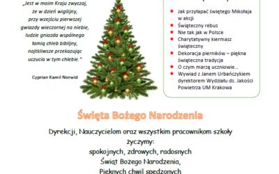 Pierwsze wydanie gazetki GŁOS UCZNIÓW